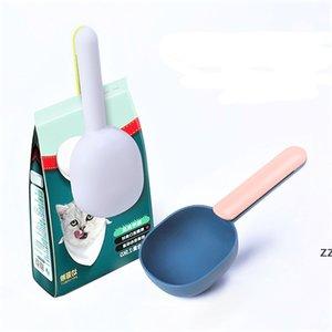 Pet Food Scoop ABS plastic Dog cat bird scoops feeders with handle clip home pets supplies HWE10383
