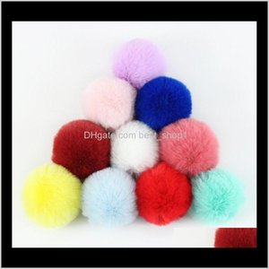 Fur Ball Keychain Accessories 8 Cm Soft Pom Poms Keyring Tool Lovely Ball For Keychain Bag Charm Knitted Hat Accessories Ewb3063 Akbeh Oij7X
