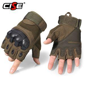 Motorcycle Fingerless Gloves Cycling Motorbike Motocross Biker Rubber Hard Knuckle Half Finger Protective Gear Men Women