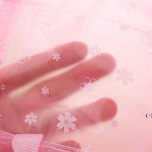 أكياس التجميل الرعوية الأزهار غسل شفاف ماء حمام اللوازم حقيبة التخزين owe5400