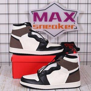 Basketball Shoes men women 1s high OG University Blue Dark Mocha Obsidian Light Smoke Grey 4s Fire Red Black Cat mens sneakers
