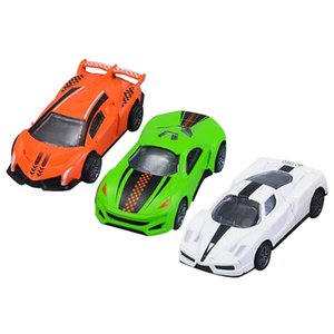 3pcs Set Mini Toy Car Model Diecast Pull Back Racing Car Simulation 4wd Vehicle Cute Plastic Toys For Boys Children Gifts