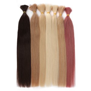 Russia Remy silky Straight Human For Braiding Bundles 100g No Wefts 18