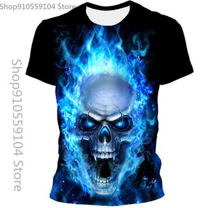 Summer Fashion T-Shirt Male 3d Skull Printing Breathable Street Clothing Stitching Size Men's T-Shirts