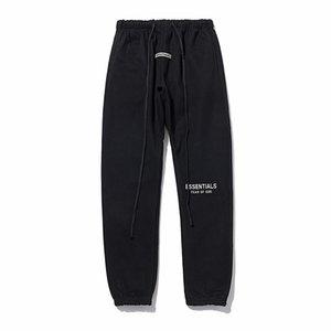 Trendy Personalità Pantaloni riflettenti Patido di Dio Essentials Lettere in silicone Pantaloni stampa Pantaloni Casual Fog Sweatspants FG Pantalone da jogger