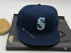 2021 Top Seattle Fitted Caps Fashion Letter S Size Hats Baseball Caps Adult Flat Peak For Men Women Full Closed Blue Color