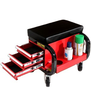 Rolling Creeper Garage Stool Shop Seat Padded Mechanic Stool with Tool Tray