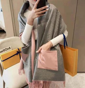 Fashion Designer Scarf with Geometric Patterns Winter Letters Print Cashmere Scarves for Women Warm Plaid Cotton Shawl Wraps Size 180x65cm