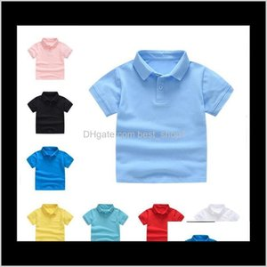 Kids Clothes Boys T Summer Tops Polo Primary Girls Uniform Toddler Short Sleeve Tees Fashion Classic Clothing S6Ub3 Polos Ltjwh