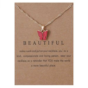 Акриловая бабочка кулон ожерелье, созвездие сплав подвеска ожерелье цепи ювелирных изделий подарок для женщин