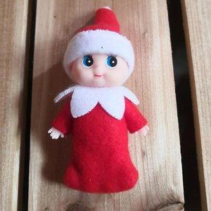 Mini Christmas Baby Elves Dolls 9cm 3.5inch Toddler Tiny Plush Toys Xmas Holiday Accessories Decoration Gifts Girls Boys Children Kids