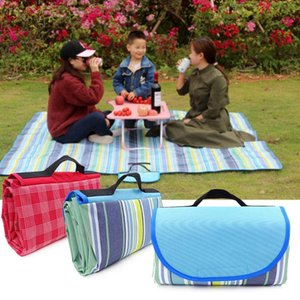 Outdoor Pads 200x200 200x150 150x100cm Portable Summer Beach Mat Picnic Blanket Waterproof Baby Plaid Multiplayer Camping