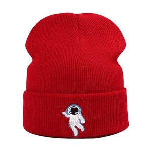 2021 Акриловый сплошной цвет мультфильм астронавты утолщенные вязаные шляпа зима теплая шляпа черепашки шапка шансы для мужчин и женщин 09