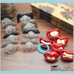 Baby Pacifier Cute Funny Teeth Beard Mustache Orthodontic Dummy Infant Nipples Silica Gel 17 Styles Lfvhr