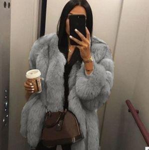 الشتاء النساء مصمم معاطف الأزياء سكيم متوسطة طويلة الفراء الرقبة المعاطف الدافئة مع الزنانير عارضة النساء الملابس