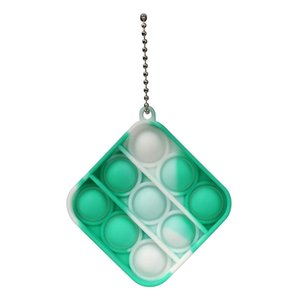 Pop It Antistress Bubbles Mini Press Pressure Pressure Key Ring Induction Children Fidget Toys Pack Simpl Dimmer Adults