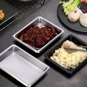 BPA Livre Descartável Take-out Dinnerware Pacote PP Sushi molho de soja prato salada de plástico sal de temperos de sal recipientes restaurante restaurante descartável
