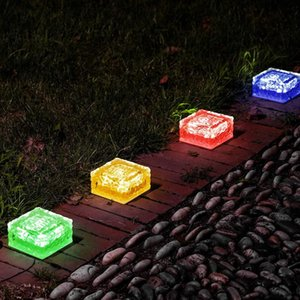 Solar Garden Lights Outdoor Decorative - Glass Brick Ice Cube LED Light For Pathway, Driveway, Lanscape, Backyard, Patio Strings