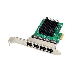 PCIe-to Quad port-RJ45 Gigabit-Ethernet NIC-network card PCI-E to 4 port RJ45 Gigabit 1000M Ethernet network cards RTL8111F