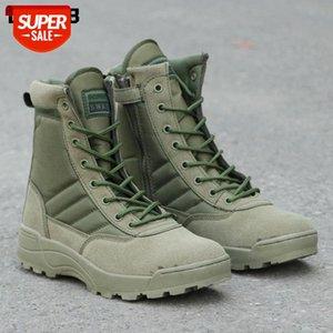 Artı Boyutu 36 46 Yeni ABD Askeri Deri Savaş Botları Erkekler Için Ordu Yeşil Savaş Bot Piyade Taktik Çizmeler Ordu Ayakkabı # 1N1A
