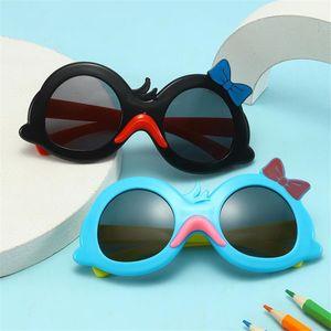 Мода детей Солнцезащитные очки Мультяшный Утка Солнцезащитные Очки Анти-УФ Очки Детские Лук Дизайн Очки Очки Ornamental Adumbral A ++