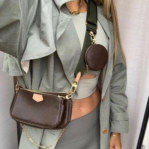 2021 SS Lady luxurys дизайнеры хозяйственные сумка высочайшее качество женщины крест корпус дизайнер кошелек кошелек сумки кошельки держатель сумки плечо M44840 Pochete Trio кошельки