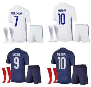 2021 Jersey de football 21-2 22 A22 Eache Mbappe Grieuzmann Kante Pogba Maillots de Football Maillot Equipe Kit français Chaussettes S-XXL