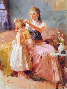 Little Lady Oil Painting On Canvas Home Decor Handcrafts  HD Print Wall Art Picture Customization is acceptable 21091902