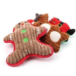 Dog Toys & Chews Chew Cute Cartoon Sound Toy Pets Christmas Molar Plush Doll Puppy Santa Snowman Gifts EWD3074 NVUT 2FQ4