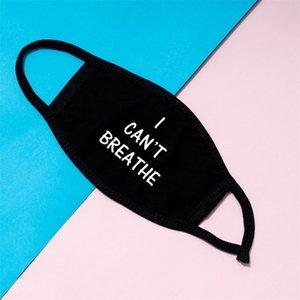 I CAN'T BREATHE Face Mask Black Lives Matter Masks George Floyd Adult Dustproof Washable Reusable Designer Cotton PM2.5 Respirator 337 R2