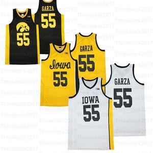 Personnalisé NCAA Iowa Hawkeyes College Basketball # 55 Garza # 10 Joe Wieskamp # 23 Josh Ogundele Jerseys