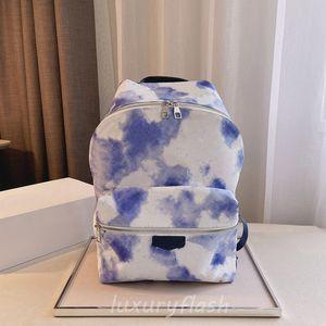 Neueste 2021 blaue Tie-Dye-Rucksack-Designer Luxurys Herren- und Womens Mode-Rucksäcke Hochwertige All-Match-Sommer-dauerhafte Rendering-Taschen