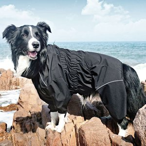 Coat Dog Outdoor Jacket Pet Waterproof Winter Warm Clothes Big Jumpsuit Reflective Raincoat for Medium Large Dogs