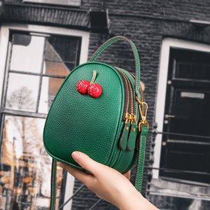Гуанчжоу кожаная фабрика маленькая сумка женщин 2021 новый летний скрещивание плечо универсальная маленькая CK вишневая кожаная сумка