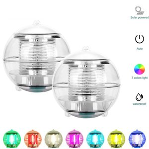 Garden Outdoor Waterproof Hanging Ball Light Swimming Pool Pond Color Changing Pool Decoration Light Led Solar Floating Lamp In Stock