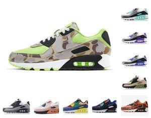 90 chaussures entraîneur 90s hommes femmes chattes Camo Camo Camo USA Volt Volt Supernova Triple Black Black Black Hommes Sports de sport en plein air Taille 40-46
