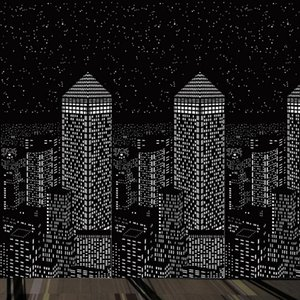 Curtain & Drapes Elegant Delicate City Night View Curtains For The Room Indoor Blackout Living 7.0X3.5Feet With Holes Star