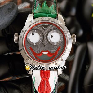 Cara sonriente única Konstantin Chaykin Relojes Verde interior Joker Joker Dial Russian Time Swiss Quartz Mens Reloj de acero Caja de acero Corbata Red Hello_Watch 2 Color