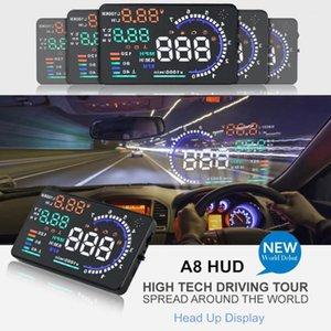 OBD2 5.5' HUD A8 Car Head Up Display LED Windscreen Projector OBD Scanner Speed Fuel Warning Alarm Data Diagnostic Tool PK D20001