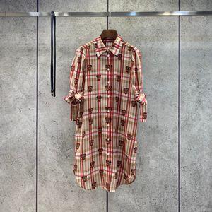 Milan Runway dresses 2021 Summer Print Panelled Women's Designer Dress Brand Same Style skirtS with 0319-6