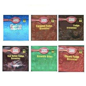 Brownie Bites 600MG bag EDIBLES PACKAGING MYLAR BAGS Red Velvet Chewy Caramel Funfetti Brownies Chocolate Multi Styles for Dry Herb Herbal Tobacco Flower Bag