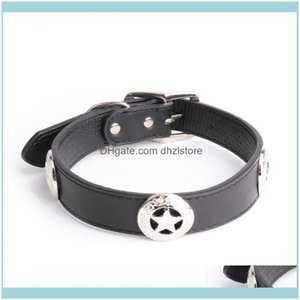 Supplies Home Gardenlarge Dog Collars Leather Collar High Quality Personalized Dogs For Big Pet Aessories Pug Pitbull Husky E11 & Leashes Dr