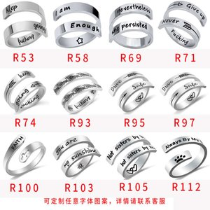 Popular jewelry versatile personality double titanium steel ring