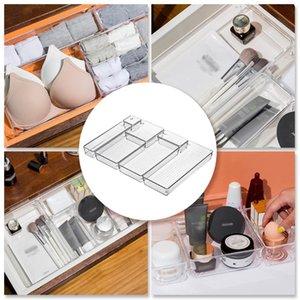 Çok Amaçlı Çekmece Organizatör Seti Temizle Plastik Kozmetik Şeffaf Kutu Makyaj Depolama Tepsileri Ofis Mutfak Kutuları Bineler