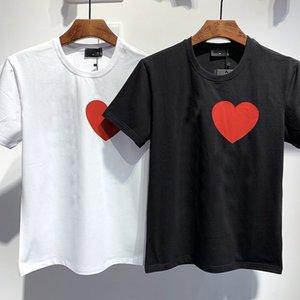 Verão homens brancos impressão preto t-shirt casual casal desgaste senhoras de manga curta streetwear respirável 2 cores