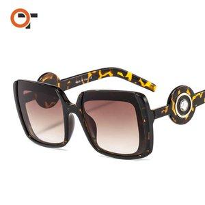 New Personalized PC Fashion Sunglasses Half-frame Color All-match Women's Men's Sun Glasses With Box Case 6929