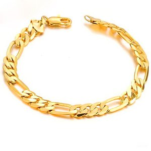 Link, Chain 2021 Copper Plated Gold Thick Strip Men's Jewelry Classic Bracelet Essential Luxury
