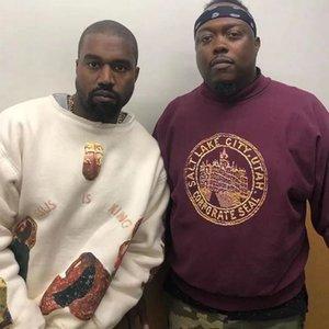 Kanye европейская и американская мода бренд осенние нижние пальто весна и осенью круглые шеи с длинным рукавом футболка мужская и женская пара модный свитер