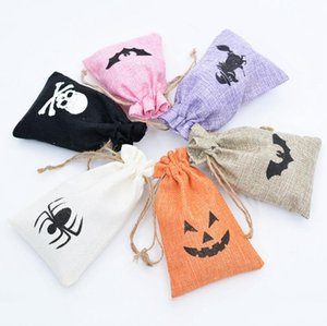 Halloween Candy Packaging Bag Creative Pumpkin Spider Witch Print Christmas Gift Packaging Bag Party Supply Storage Bags ju0918