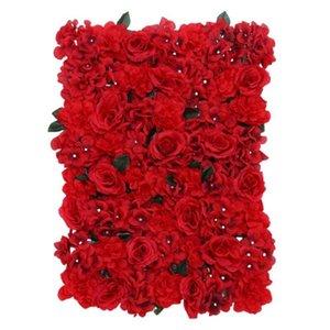 لوحة زهرة اصطناعية رائعة متعددة الأغراض فو الحرير تحفيز الزخرفية روز جدار للزهور الزفاف اكليلا